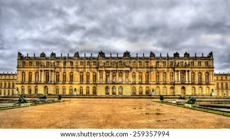 View of the Palace of Versailles - France - stock photo