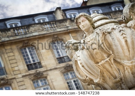 View of the Parliament Square in Bordeaux, France - stock photo