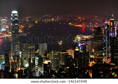 View of The Peak, Hong Kong