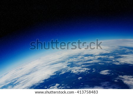 View of the planet Earth from space during a sunrise 'elements of this images furnished by NASA'