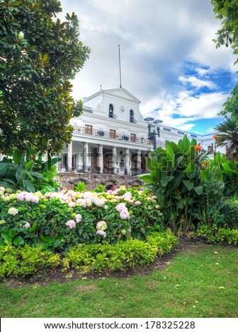 View of the President's Palace, Quito Ecuador - stock photo