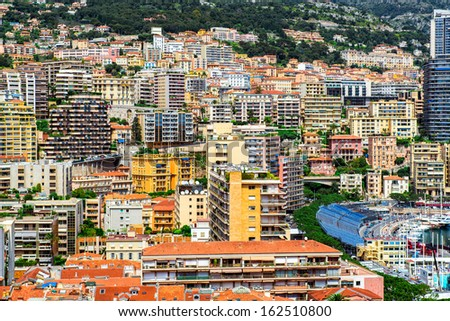View of the Principality of Monaco - stock photo