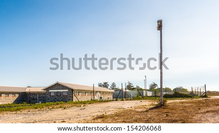 View of the Prison on the Robben Island, South Africa, where the President of South Africa Nelson Mandela was imprisoned. UNESCO World heritage - stock photo