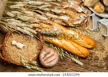 View of the products in bakery - stock photo