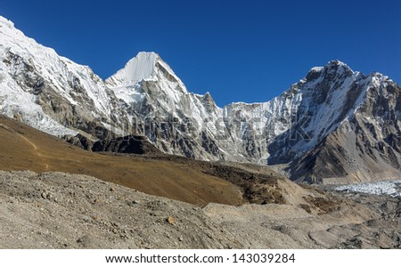 View of the Pumo Ri (7165 m) from Khumbu glacier - Everest region, Nepal