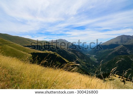 View of the Pyrenees from Vall Fosca (Spain)
