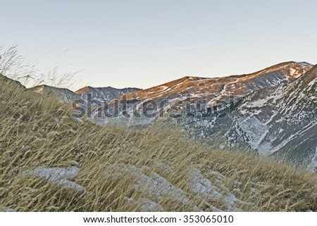 View of the Pyrenees from Vall Fosca (Spain) in winter