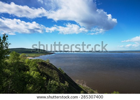 View of the river called the Amur.