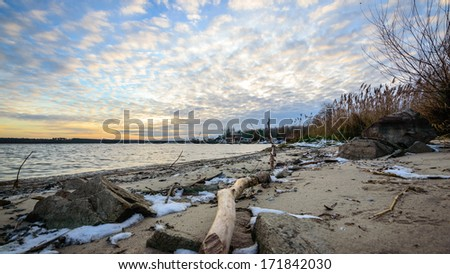 view of the sandy beach, nature series