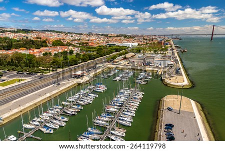 View of the seafront in Lisbon, Portugal - stock photo