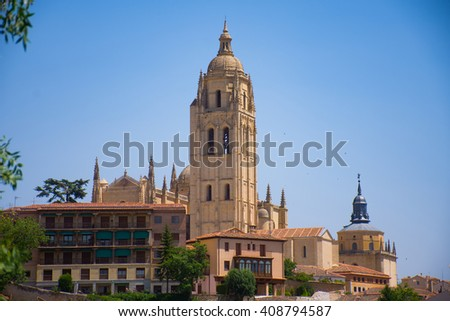 View of the Segovia Cathedral, Spain
