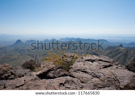 View of the South Rim Trail - stock photo