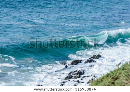 view of the surf on the ocean