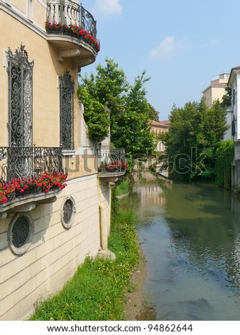 View of the town of Padua (Padova) in Veneto, Northern Italy