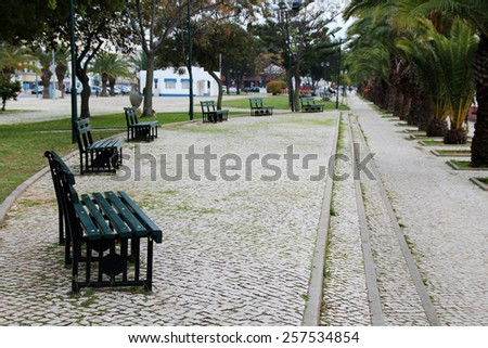 View of the urban park of Olhao city, Portugal. - stock photo