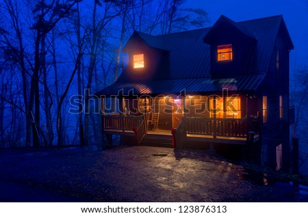 Pigeon forge stock images royalty free images vectors for Smoky mountain cabins on the water