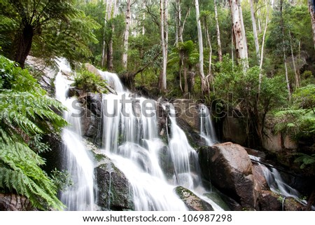 View of Tooronga Falls located in Victoria, Australia - stock photo