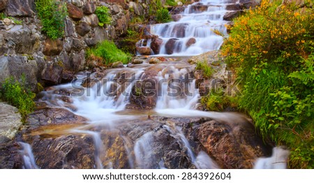 View of torrent in Arzo countryside, Verbania. italy - stock photo