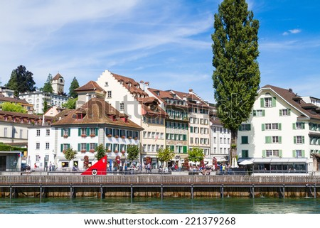 View of town. Lucerne, Switzerland - stock photo