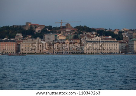 View of Trieste at sunset - Italy