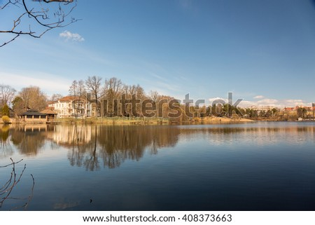 View of Upper Lake Suzdal. Saint-Petersburg, Russia.