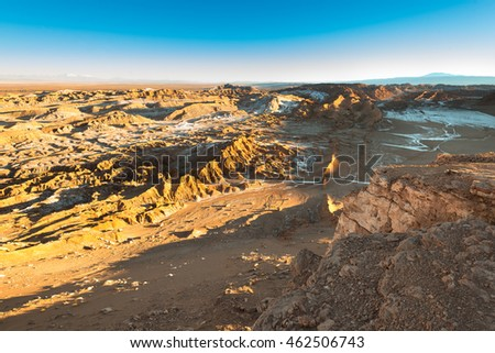 View of Valle de la Luna (Moon Valley), Cordillera de la Sal, Atacama Desert, Chile
