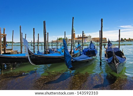 view of venice - italy - stock photo