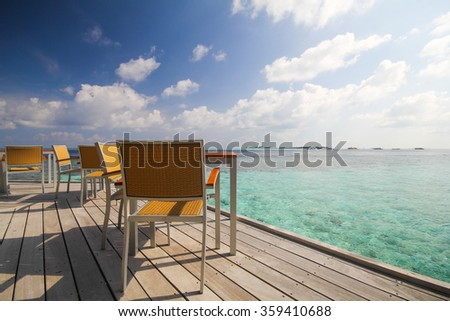 View of vilamendhoo island in the Indian Ocean Maldives