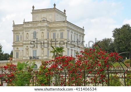 view of villa pamphili - stock photo