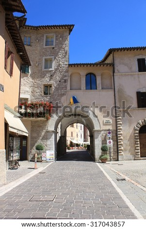 View of Visso village, Ancient medieval village ( Marche Italy)