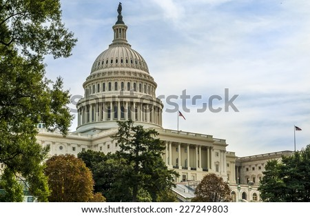 View of Washington D.C. showcasing the architecture of the Capitol building.