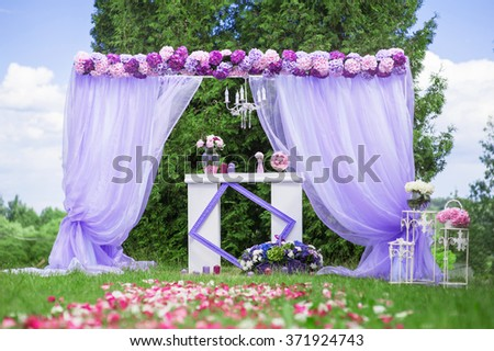 View of wedding setting