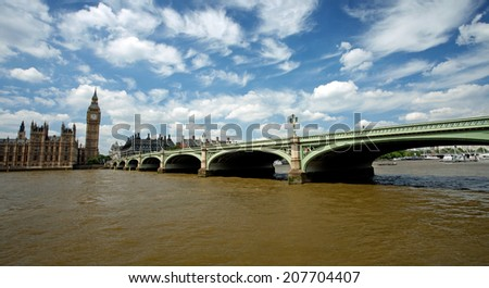 View of Westminister Bridge and Big Ben