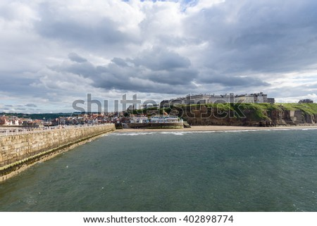 View of Whitby harbour in Whitby