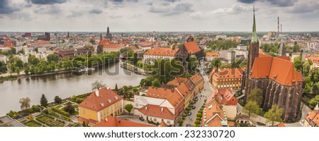 View of Wroclaw - stock photo