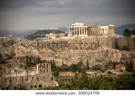 View on Acropolis, Athens, Greece  - stock photo