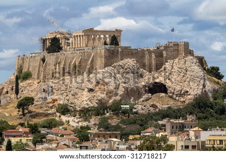 View on Acropolis in Athens, Greece