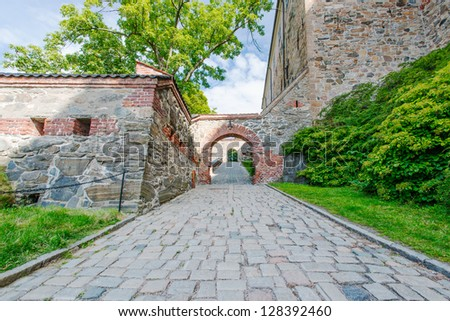 View on Akershus Fortress, Oslo, Norway - stock photo