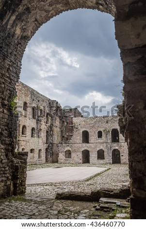 View on an ancient historical building used as fort during the World War I fort in Italy