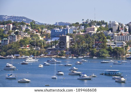 View on bay of Acapulco - stock photo