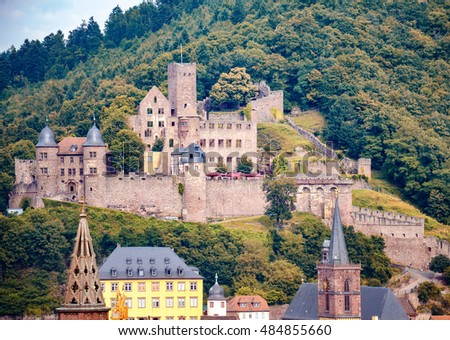 View on castle in Wertheim, Germany