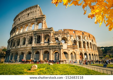 View on Colosseum in Rome, Italy - stock photo