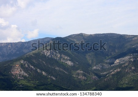 view on Crimean mountains near Yalta