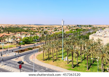 View on crossroad in Beersheba