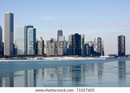 View on downtown Chicago (Winter)