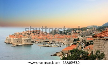 view on Dubrovnik, Croatia - stock photo