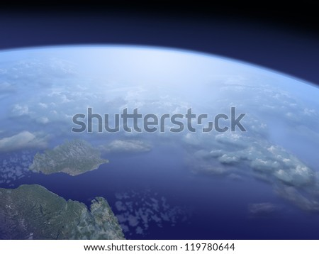 view on Earth from space