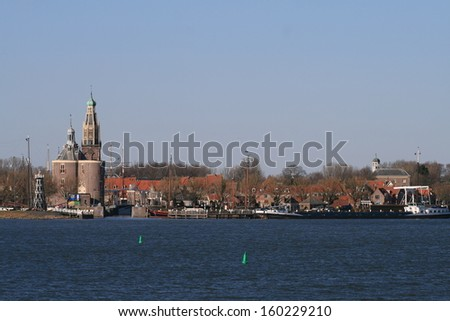 View on Enkhuizen , the netherlands. - stock photo