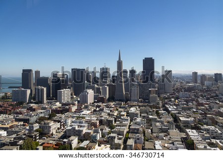 View on Financial District, Downtown San Francisco, CA - stock photo