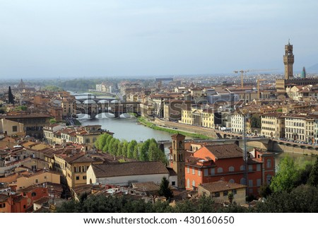 View on Florence, Italy
